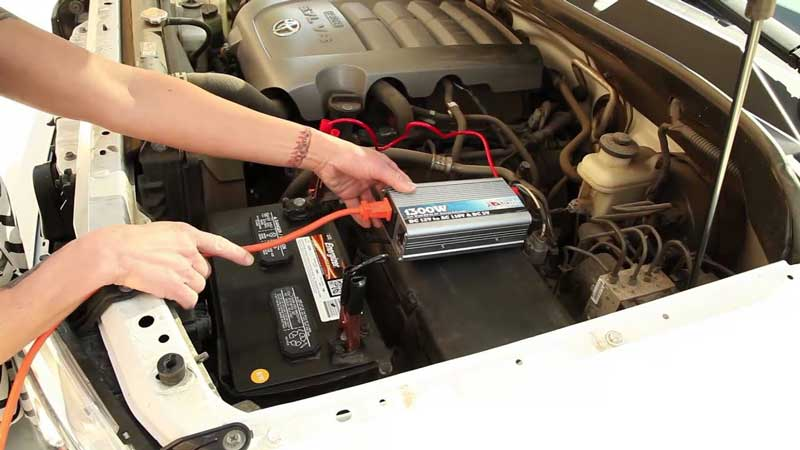 connecting power inverter to car battery