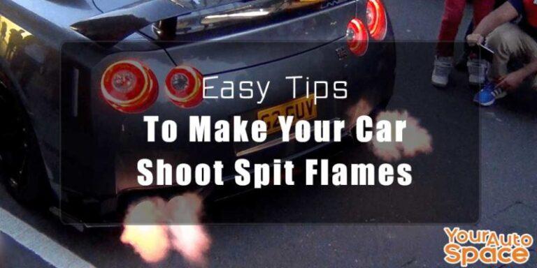 car shooting flames