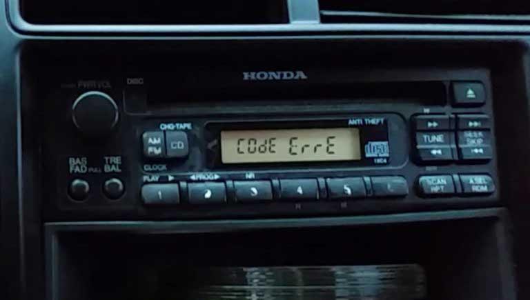 honda radio unlock